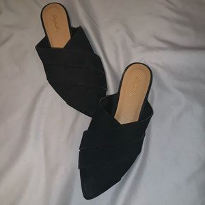 Black Strappy Mules - size 6